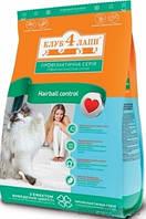 Клуб 4 лапы для выведение шерсти сухой корм для кошек 11 кг
