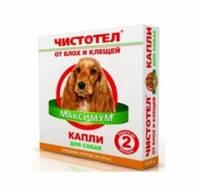 Чистотел Инсектал плюс -  капли от блох и клещей для средних собак