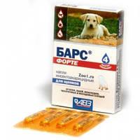 Барс Форте АВЗ капли от блох и клещей для собак для щенков