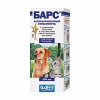 Барс антипаразитарный зоошампунь АВЗ для собак и кошек 250 мл