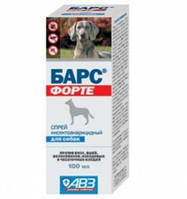 Барс Форте АВЗ спрей от блох и клещей для собак 100 мл