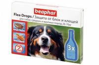 Flea drops Beaphar 10827 капли против блох и клещей для средних и крупных пород