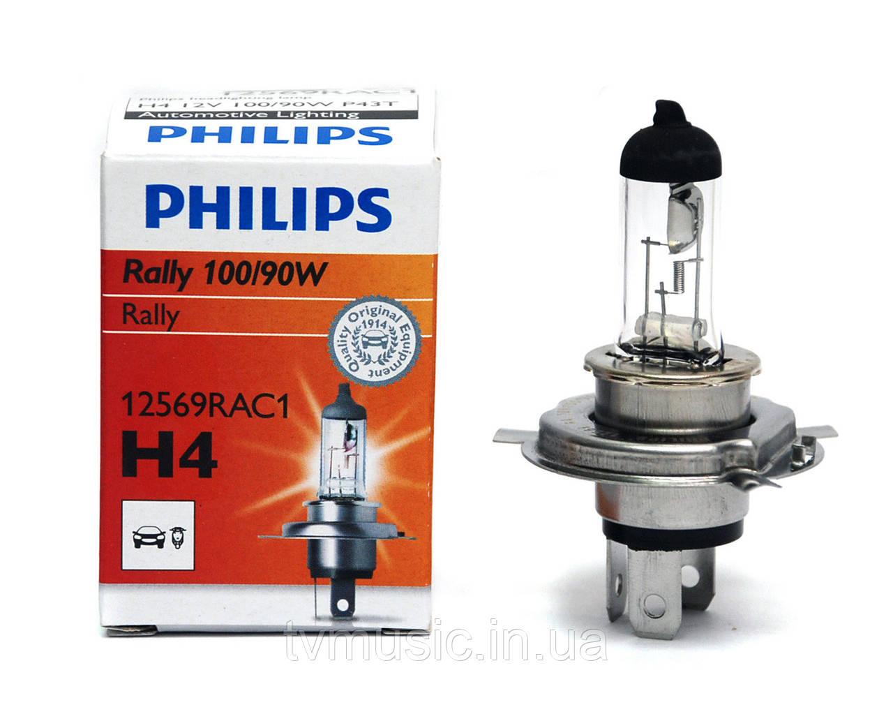 Галогенная лампа Philips Rally H4 12V (12569RAC1)