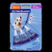 Ultra Guard Hartz капли 3 в 1 для собак 14-27 кг