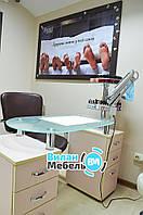 """Маникюрный стол """"Элегант"""" с стеклянной столешницей, фото 1"""