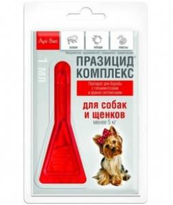 Празицид КОМПЛЕКС пипетка для собак до 5кг, 1 пипетка