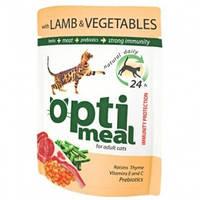 Optimeal Ягненок и овощи в желе консервы для кошек 85 г
