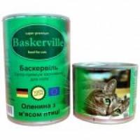 Baskerville  Оленина и мясо птицы консервы для кошек 400 гр