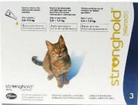 Стронгхолд капли для котов  2.5- 7.5кг. Pfizer