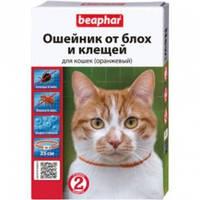 Ошейник против блох и клещей Элегант  для кошек 35см оранжевый