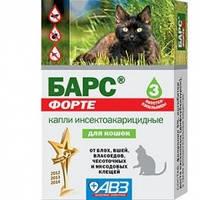 Барс Форте АВЗ капли от блох и клещей для кошек для взрослых кошек