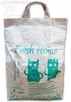 Минеральный наполнитель  Fresh House ( Фреш Хаус ) зеленый мелкий, 5 кг.