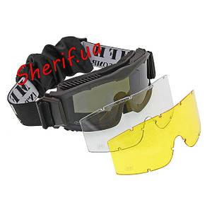Очки тактические, баллистические, спортивные, маски защитные MFH