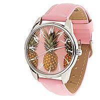 """Часы наручные """"Ананас"""" розовый, фото 1"""