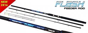 "Удилище  ""Flash"" Fiberglass Feeder Rod 40-110g 3.0m+3tips"