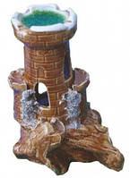 Декорация для Аквариума Керамика Башня на скале № 200