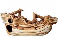 Декорация для Аквариума Керамика Корабль большой Ф № 63