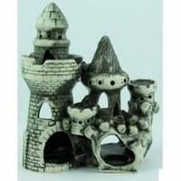 Декорация для Аквариума Керамика Замок средний с башней № 210
