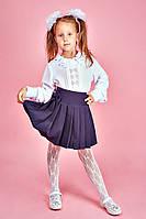 Стильная блуза школьная с милыми складочками