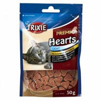 Лакомство для кошек Premio Hearts утка и сайда, Трикси 42705