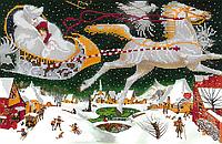 Схема для вышивки бисером POINT ART Снежная королева, размер 35х23 см
