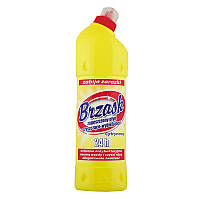 Гель для чистки туалету BRZASK 1л (Лимон), (18уп)