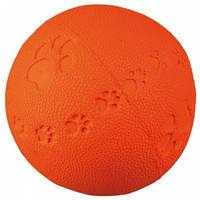 Мяч литой с лапкой и пищалкой, Трикси 34861