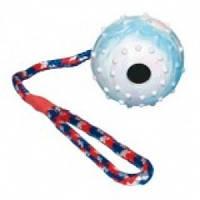 Мяч mini с колючками на веревке 60мм/70г. Fixi, игрушка для собак