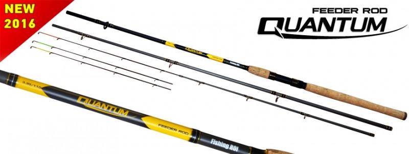 "Удилище  ""Quantum"" Full Carbon Feeder Rod 40-110g 3.3m+3tips"