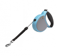 Рулетка-поводок M 4,5м 25кг трос серо-голубой