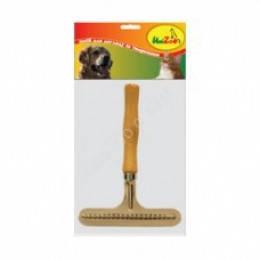 Расческа-грабли с деревянной ручкой М313, Unizoo