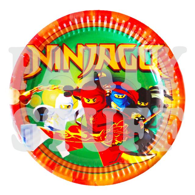 одноразовые тарелки детские Ниндзяго