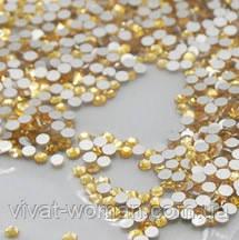 Стрази Topaz (золото) SS4 холодної фіксації. Ціна за 144 шт