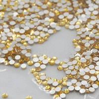 Стрази Topaz (золото) SS4 холодної фіксації. Ціна за 144 шт, фото 1