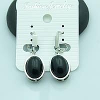 Овальные серьги для девушек из натуральных камней от Бижутерии RRR в Украине. 2204
