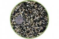 Грунт черно-белый базальт-мрамор 10кг, Nechay Zoo 2-5 мм