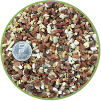 Грунт бело-розовый базальт-мрамор 10кг, Nechay Zoo 2-4 мм