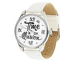 """Часы наручные """"Иллюзия времени"""" белый"""