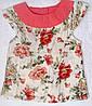 Блуза с цветами для девочки