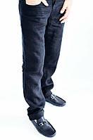 Мужские брюки Fendi летние черные  лён  30