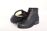 Кожаные женские зимние ботинки Зима-Осень