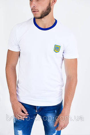 Мужская футболка поло  Bikkembergs белая размер XXL, фото 2
