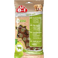 8in1 Лакомство для собак говядина/яблоко MINIS 100гр