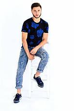 Мужские джинсы  Philipp Plein голубые с потертостями, фото 3