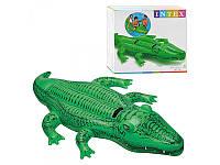 Надувной плотик rрокодил с ручками, 203х114 см, Intex