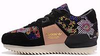 Женские кроссовки Adidas ZX 700 Remastered Floral (aдидас ZX) черные