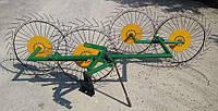 """Грабли-ворошилки  """"Солнышко"""" (4 колеса) для мотоблока, мототрактора, фото 1"""
