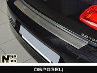 Накладка на бампер карбон для Chevrolet Aveo '08-11 Хетчбек (Premium+k)