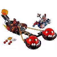 Nexo Knights 14004 Безумная колесница Укротителя, 329 деталей, 2 мини-фигурки, подвижные элементы