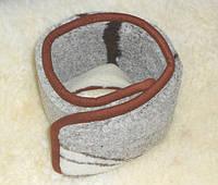 Пояс согревающий из овечьей шерсти двухслойный П3